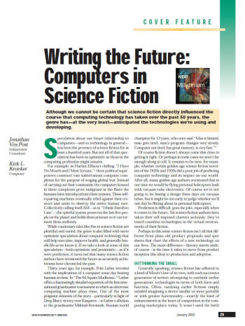 Writing the Future: Computers in Science Fiction -- by Kirk L ...